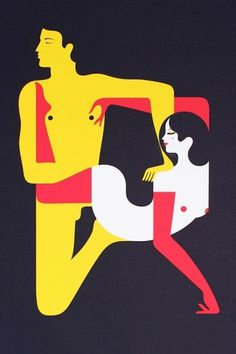 malikafavre #modern #red #yellow #negative space #black #malika favre