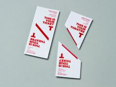 The New Theatre identity. #thenewtheatre #tickets #interbrand