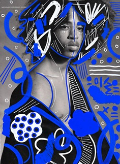 Afro Punk Magazine illustration by Andreea Robescu. www.andreearobescu.com