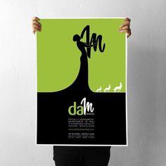 projectgraphics - typo/graphic posters #kosovo #festival #prishtina #projectgraphics #poster #dam #2008