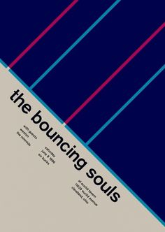 bouncing souls at euclid tavern, 1996 - swissted #print #design #graphic #poster