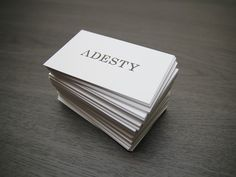 Adesty business cards #adesty #japan #branding