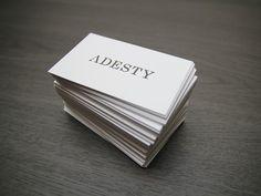 Adesty business cards #adesty #japan #branding