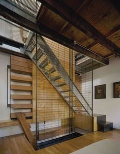 noroof architects › Slot House #noroof #architects #interiors #architecture #stair