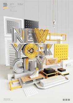 Typography 11. by Peter Tarka, via Behance #new york #nyc #layers