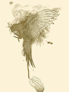 Make Fine Bird #illustration #design #graphic #animals