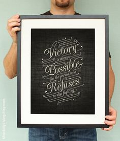 Typography - VICTORY CLUB MEMBERS #victory typography poster