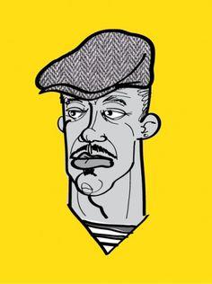 Specialmagazin #illustration #hat #portrait #yellow #man #face #character