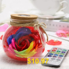 Creative #Products #Practical #Eternal #Flowers #Soap #Roses #Wishing #Bottles #for #Birthday #Valentine #Day #Gifts #- #RED