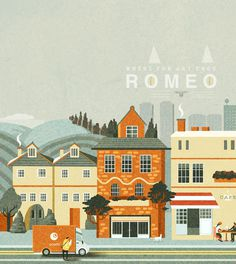 Illustration - Romeo on Behance #simple #illustration