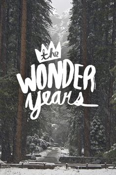 """The Wonder Years"" Typography #type #photography"