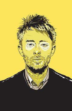 'Thom Yorke' by Matt Fontaine Digital Art from #tom