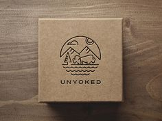 #logo#mockup#wild#unyoked#animal#bison#scene#mountain