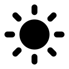See more icon inspiration related to weather, sunlight, brightness, sunshine, sunny and Sunbeams on Flaticon.