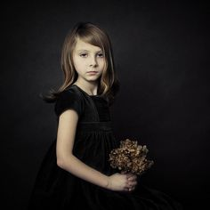 Girl With A Flower, Artwork by Magdalena Berny #children