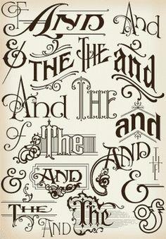Creative variation #vintage #typography