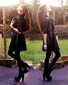 Love Dress, Oasap Boots, Koko #fashion #photography #woman