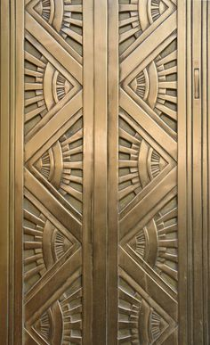 pattern Art Deco Metal Door. Computing & Library Services, University of Huddersfield. West Yorkshire HD1 3DH, United Kingdom #art #deco