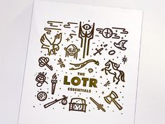 dribbblepopular:LOTR & The Hobbit letterpress printOriginal: http://ift.tt/19SQRPy #illustration #vector lines #lotr