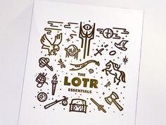 dribbblepopular:LOTR & The Hobbit letterpress printOriginal: http://ift.tt/19SQRPy