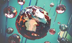red ink on paper #design #distort #glass #sphere #poster #broken