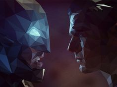 #lowpoly#batman#superman#illsutration#movie#awesome