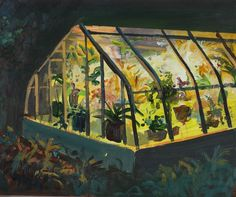 il_fullxfull.122988683 #paint #greenhouse #plants