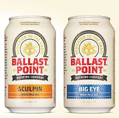 Ballast Point Cans #beer #can #label