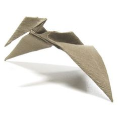 How to make a simple origami pterosaur (http://www.origami-make.org/howto-origami-dinosaur.php)