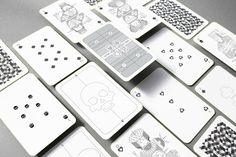 Whimsical Playing Cards #playing_cards #designdeck #cards #minimalist