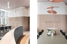 the penny drop cafe by pop and pac melbourne australia beautiful interior design branding logotype copper wood graphic modern coffee inspira