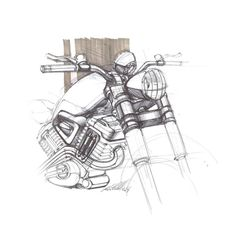 Motorcycle sketch