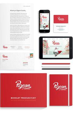 Pigeon Rebranding Stationery