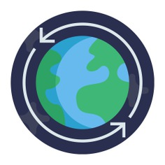 See more icon inspiration related to connect, global, earth, planet, maps and location and worlwide on Flaticon.