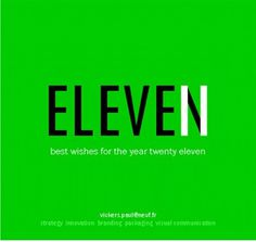 Paul Vickers : Design Thinking #green #2011 #year #greetings #eleven #new
