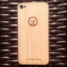 Apple Tree wood prototype - Feels and looks great #cover #iphone #wood #craft #carveon