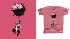 Balloon Man - Tshirt Design - Creattica #pink #shirt #balloon #illustration #man