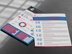 MOPHX Resume - Free Resume Template with Infographic Style Design