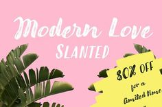 Modern Love Slanted -80% Off