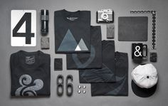 Ugmonk Black Series #clothing #knolling #monotone #ugmonk #black #ampersand #product #on #photography #layout