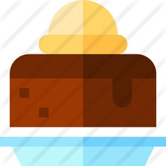 See more icon inspiration related to brownie, food and restaurant, dessert, bakery, chocolate, hot, ice cream, cold and sweet on Flaticon.