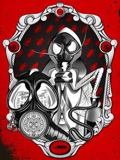 En el 2012? on the Behance Network #garavato #illustration #mask #cockroach