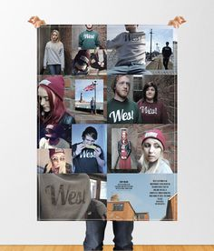 West Clothing #clothing #design #graphic #poster #type #editorial