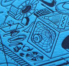 Letterpress print for Lightbox by Walter Hansen https://www.behance.net/gallery/19123203/Lightbox