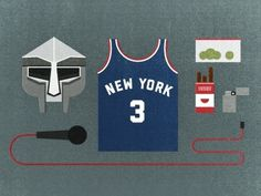 Dribbble - MF DOOM kit by Andrew McBride #doom #illustration #mf