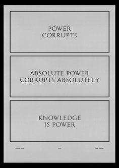 David Rudnick #power #signs #poster