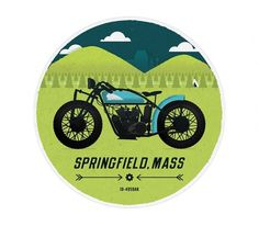 Springfield - The Everywhere Project #springfield #been #everywhere #boneyard #illustration #motorcycle #jp