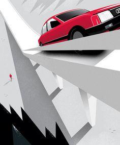 Mattson Creative #illustration #saudi #car
