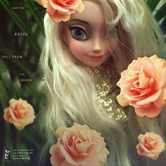 #doll #face #rose #hair #photography #design