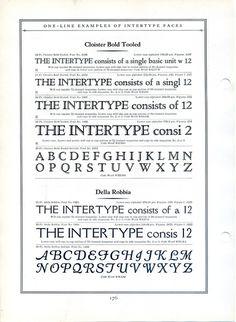 Intertype Cloister Bold Tooled type specimen #type #specimen #typography